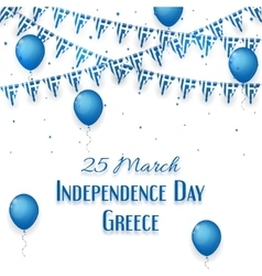 Background with a garland from greece flags vector