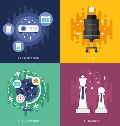 Set of business concepts presentation vip business vector