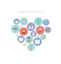 Icons to the international womens day vector