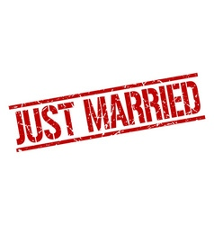 Just married stamp vector
