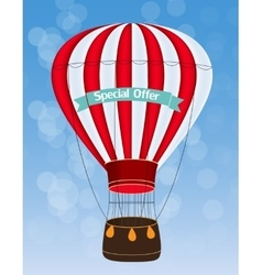 Air balloon background vector
