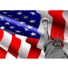 al 0740 flag 02 vector image vector image