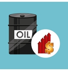 Barrel oil concept price growth vector