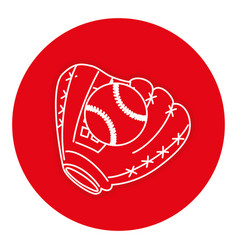 baseball glove with ball vector image