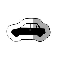 Black car side icon vector