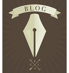 Blog Icon 2 vector image vector image