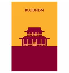 Buddhist temple icon religious building landmark vector