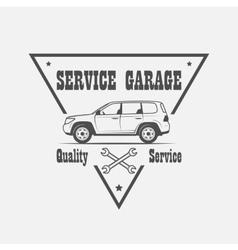 Car service logo vector image vector image