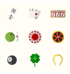 Casino and Gambling Flat Icons vector image vector image