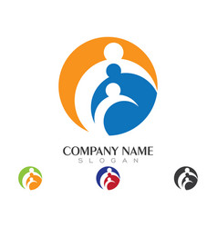 community care logo vector image vector image