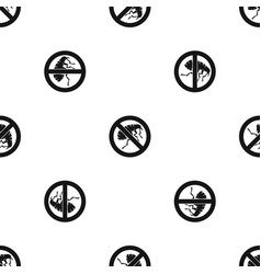 etching insect pattern seamless black vector image
