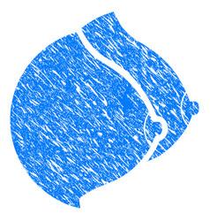 female tits grunge icon vector image