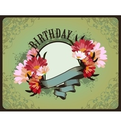Greeting card birthday vector image vector image