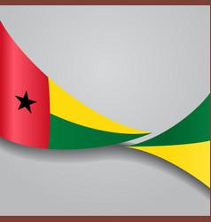 Guinea-bissau wavy flag vector