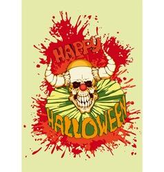 Halloween clown diabolical vector