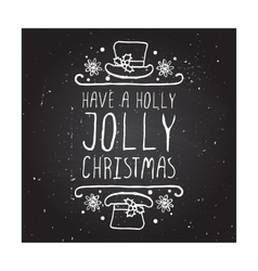 Have a holly jolly christmas - typographic element vector