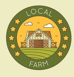 Local farm - granary emblem logotype pack vector