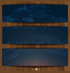 Night sky hand drawn watercolor background vector