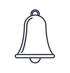 outlined bell alarm simple ring object vector image