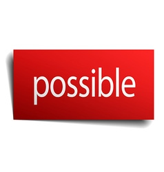 Possible red square isolated paper sign on white vector