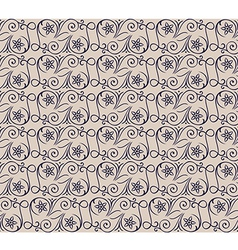 Seamless floral swirl pattern vector