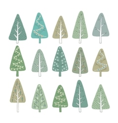 Set christmas tree vector