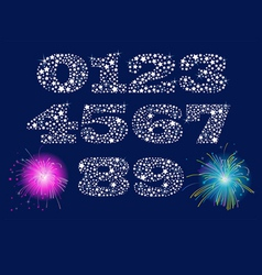 Shiny numbers set vector