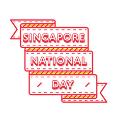 singapore national day greeting emblem vector image vector image
