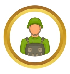 Soldier icon vector