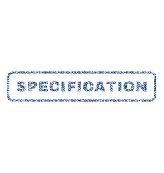 Specification textile stamp vector