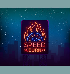 Street racing billboard logo emblem template vector