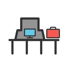 Suitcase inspection vector