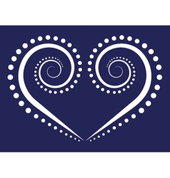 Swirl heart vector