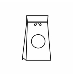 Tea packed in a paper bag icon outline style vector