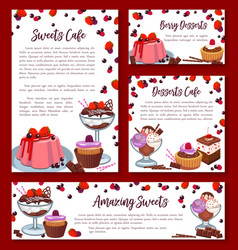 templates for bakery shop cakes desserts vector image vector image