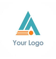 triangle company logo vector image vector image