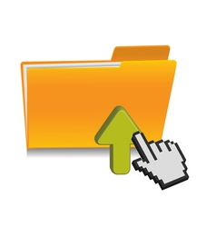 upload folder icon vector image vector image