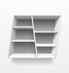 Wall shelves vector image