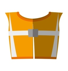 cartoon yellow reflective vest safety workshadow vector image