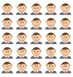 office smileys set vector image