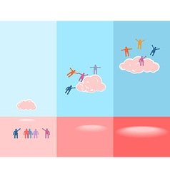 People and clouds success concept eps 10 vector