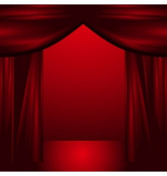 theatre curtains vector image