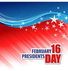 Presidents day background vector