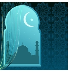 Ramadan kareem greeting card template vector
