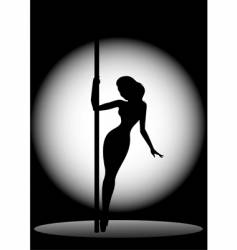 silhouette of dancer vector image