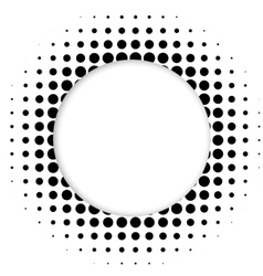 Halftone dots circle vector