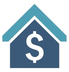 Loan mortgage flat icon vector