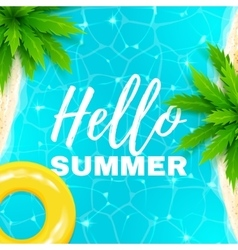 Hello summer banner vector