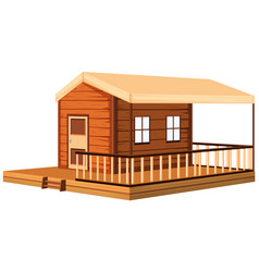Architecture design for wooden cottage vector