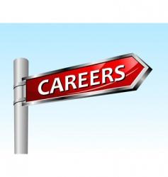 Arrow road sign careers vector